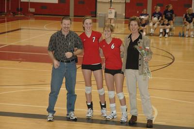 Girls Varsity Volleyball  - 2005-2006 - Parent's Night - 2/2/2006 vs. Fruitport JG