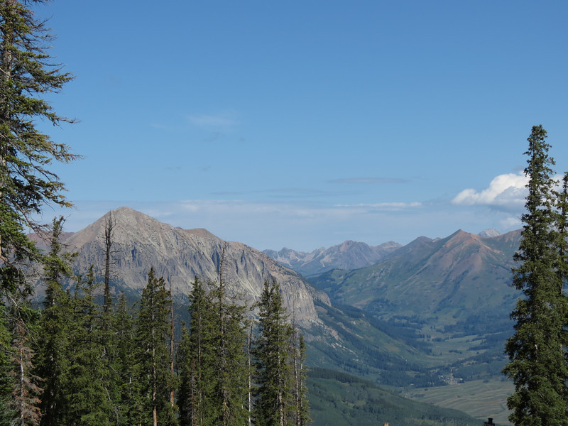 Looking north towards Gotic and Schoefiled Pass where we started our hike up to West Maroon Pass.