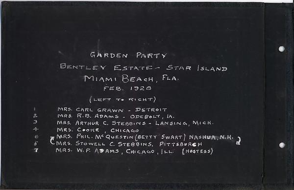Stowell Stebbins  Album Florida 1928