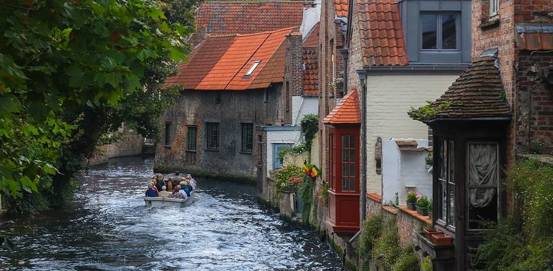 Water tour of Bruges, Belgium