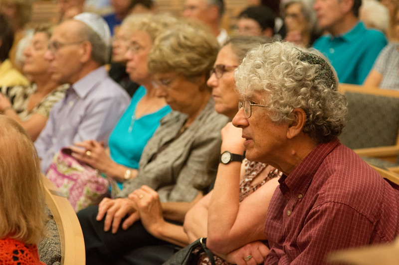 Attendees listening intently to Iran Nuclear Agreement Forum at Congregation Beth El, Bethesda, MD, September 3, 2015
