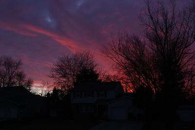 2014 01.01 Sunset in Marlton NJ