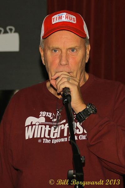 Steve Gosse, Uptown Folk Club president at Tim Hus CD Release