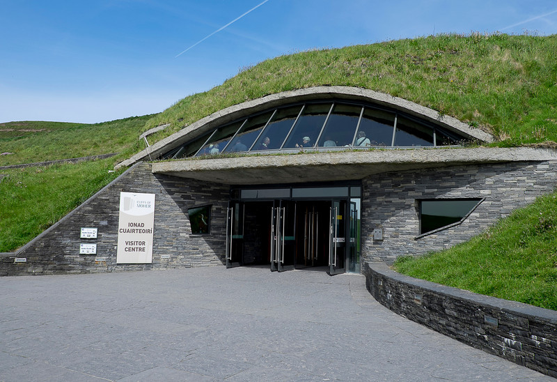 The visitors centre was built into the earth.