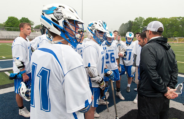05/22/18 Wesley Bunnell | Staff Southington lacrosse had their season ended with a loss to Glastonbury on Tuesday afternoon at Southington High School. Zack Domian (11), Jack Tedone (26) and Jason Brault (21).