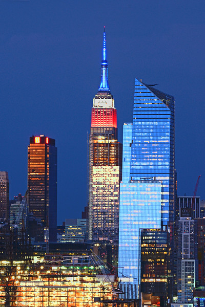 Empire State Building-Red White Blue