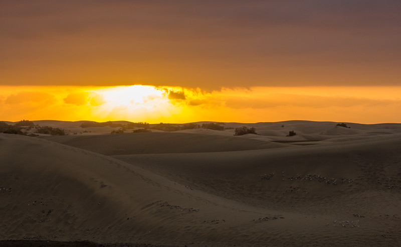 Sunrise over Maspalomas Dunes