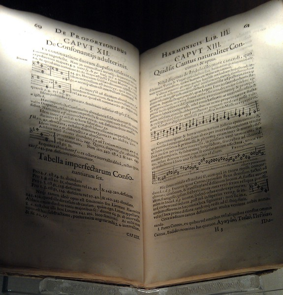 Original copy of Harmonices Mundi (The Harmony of the World), by Johannes Kepler (1619), in the Rare Book Collection at the Library of Congress