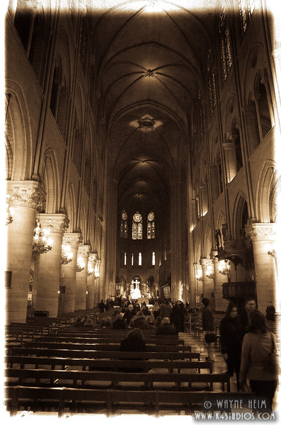 Interior of Notre Dame  2   Photography by Wayne Heim