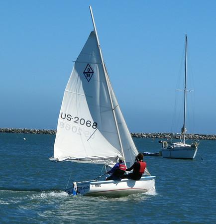 2014-06-29: HMBYC Boats Reefing