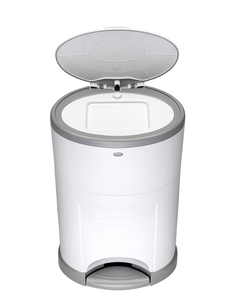 Korbell_Nappy_Bin_Product_Shot_Plus_26L_Pure_White_Top_Angle_Lid_Open.jpg