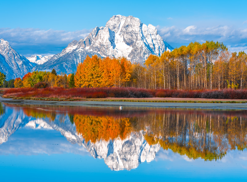 Grand Tetons National Park Autumn Colors Oxbow Bend