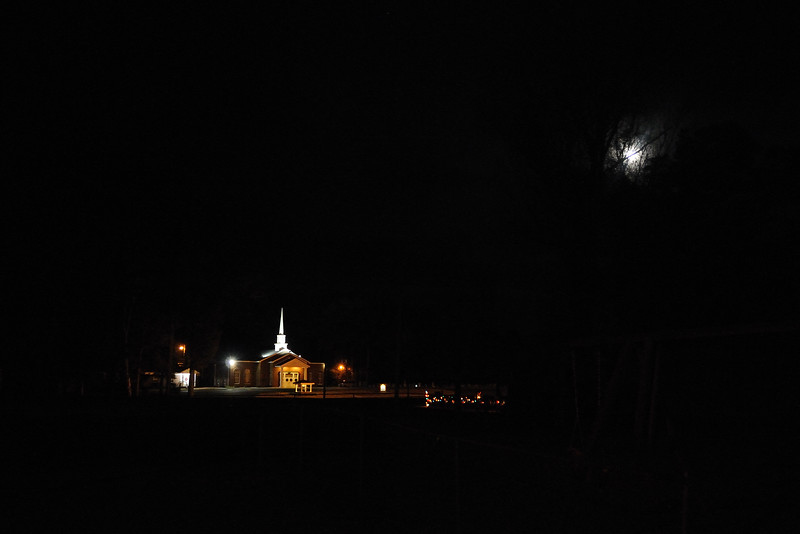 "With the full moon, the view tonight reminded me of the song, ""Oh, Little Town of Bethlehem.""<br /> <br /> Leroy, Alabama"