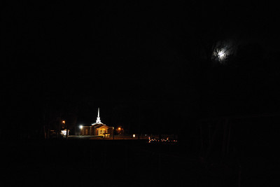 "With the full moon, the view tonight reminded me of the song, ""Oh, Little Town of Bethlehem.""  Leroy, Alabama"