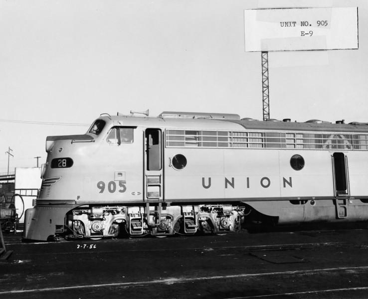 EMD E9 truck. (UP Photo; Warren Johnson Collection)