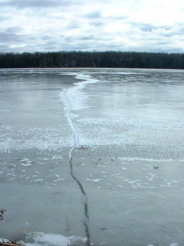 a pretty big seam in the ice