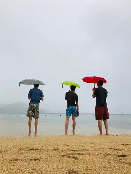 Shane, Tyler, Chris at Pu'u Poa Beach at the St. Regis