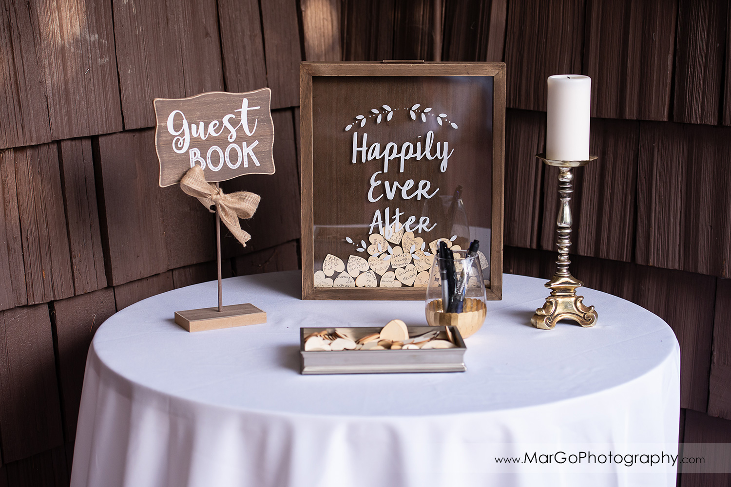 happily ever after wedding guest book at San Pablo Rockefeller Lodge