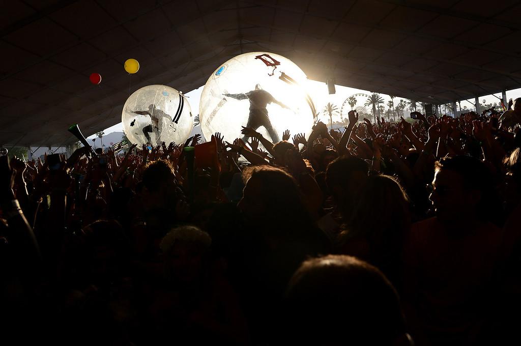 . Major Lazer performs at the Coachella Valley Music and Arts Festival Saturday, April 13, 2013, at the Empire Polo Club in Indio. (Staff photo by Jennifer Cappuccio Maher)