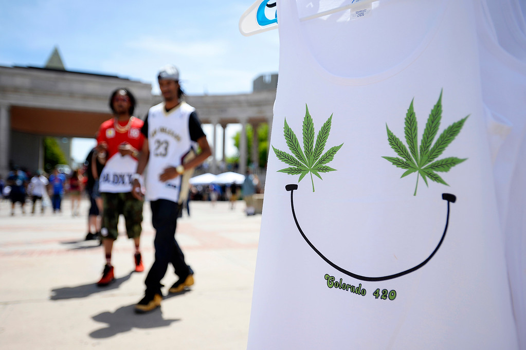 . Denver 420 Rally held Saturday at Civic Center Park. (Photo by Kira Horvath/ The Denver Post)