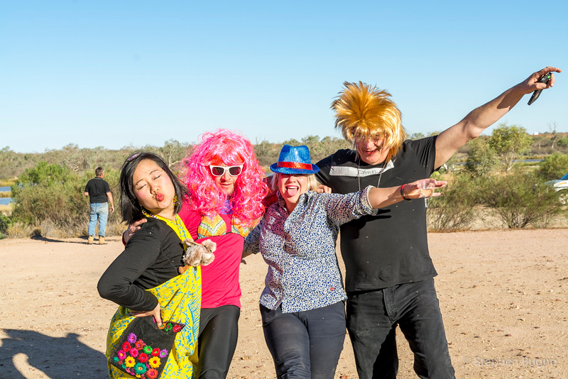 "dressing up for ""Priscilla night"" in Birdsville"