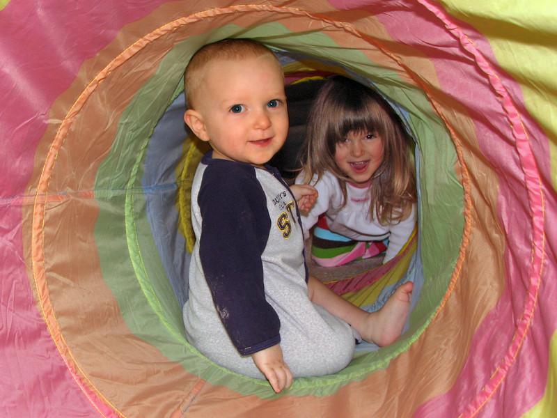 Karl Naphtali and Hazel in tunnel