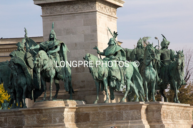 Sculptures in HERO'S SQUARE- BUDAPEST.