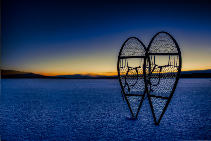 Sunrise Snowshoes on Lake Missinaibi