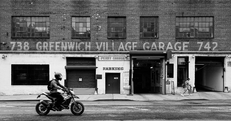 Greenwich Village Garage BW-2.jpg
