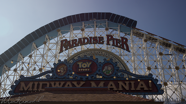 Disneyland Resort, Disney California Adventure, Paradise Pier, Toy Story Midway Mania, Toy Story, Midway, Mania