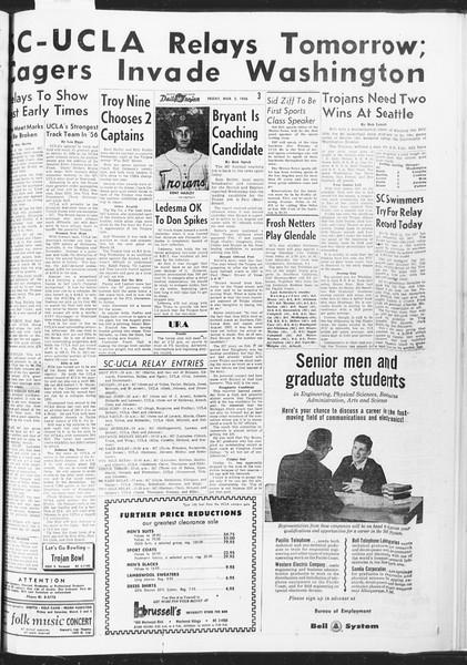 Daily Trojan, Vol. 47, No. 87, March 02, 1956