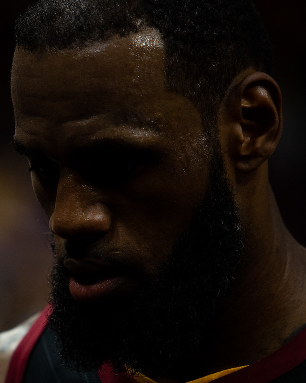 . Michael Johnson - The News-Herald LeBron James walks to the locke room at halftime during game 3 of the Eastern Conference finals on May 19, 2018.