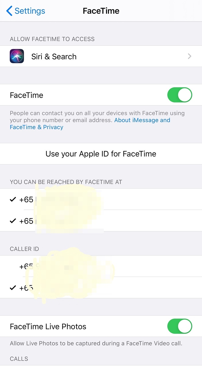 FaceTime with BOTH phone lines in iOS13