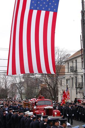 Gregory Barnas Funeral, Jersey City & Wallington FD