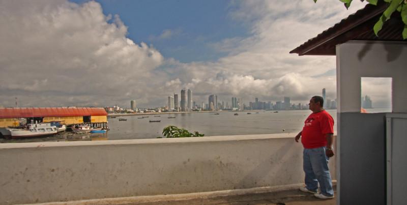 Panama City from the marina
