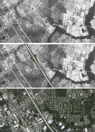 Jacksonville 1943, 1952 and 2016 Aerials