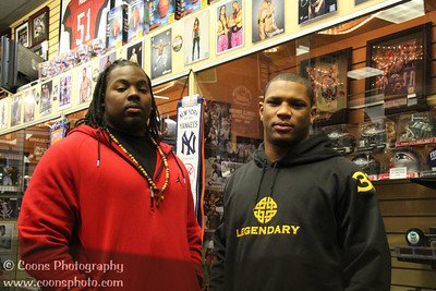 3/10/13 - Pittsburgh Steelers Isaac Redman and Steve McLendon