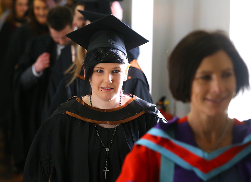Waterford Institute Of Technology Conferring. Pictured at WIT Waterford Institute Of Technology Conferring Claire Collins, Waterford who graduated Bachelor of Arts (Honours) in Health Promotion. Picture: Patrick Browne