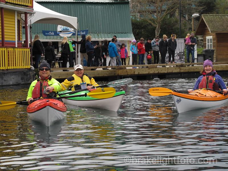 Kayakers at Fisherman's Wharf