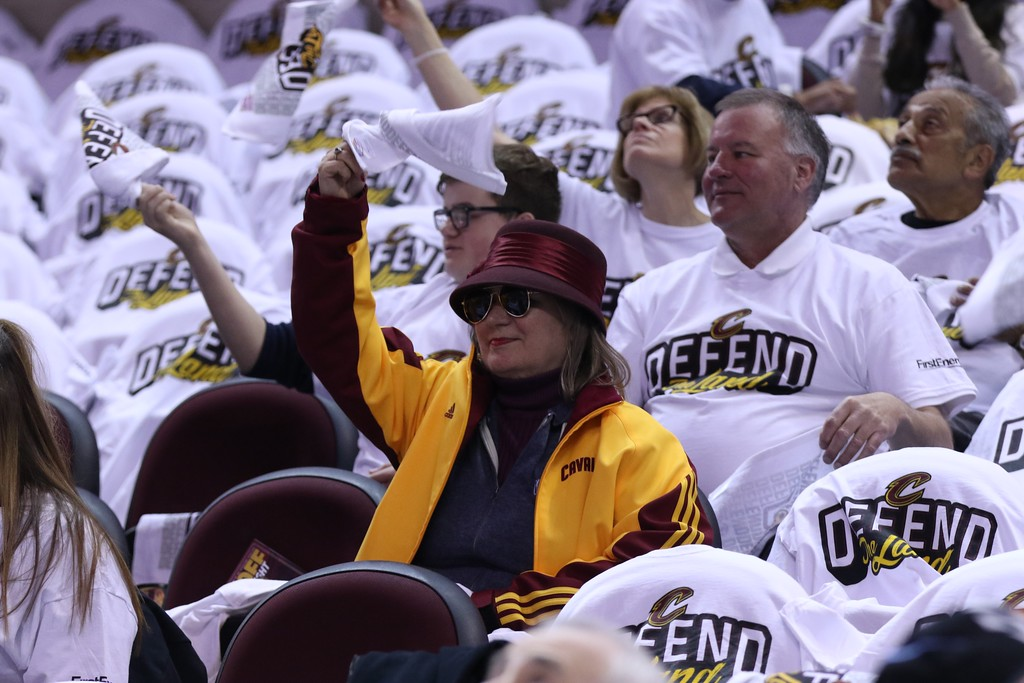 . Tim Phillis - The News-Herald Action from the Cavaliers\' victory over the Pacers in Game 1 of their Eastern Conference first-round playoff series on April 15 at Quicken Loans Arena.