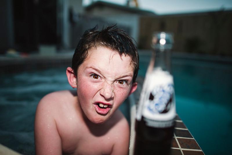 geno at the pool