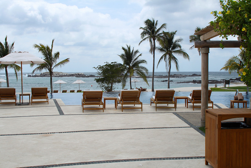 The view from one of the many pools at the St. Regis Resort at Punta Mita. All the views were as beautiful as this one.