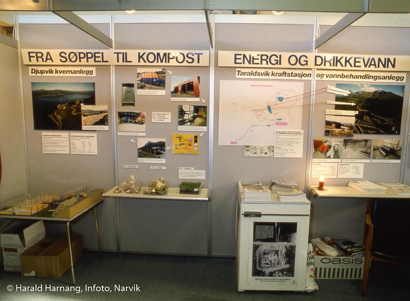 Messe i Idrettens hus, der Narvik kommune ønsket å vise frem vannbehandlingsanlegg i Tøttadalen og kompostanlegg på Djupvik.