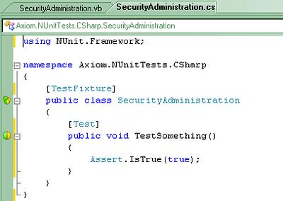 ReSharper and NUnit Integration