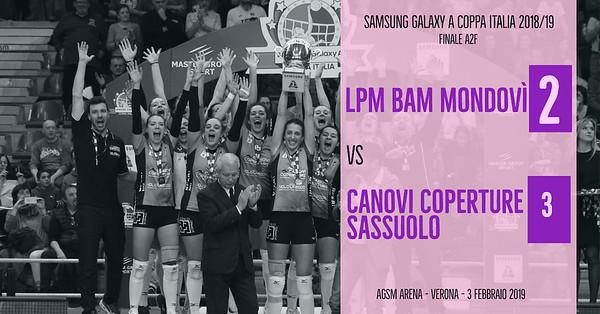 Finale Coppa Italia A2f: Lpm Bam Mondovì - Canovi Coperture Sassuolo