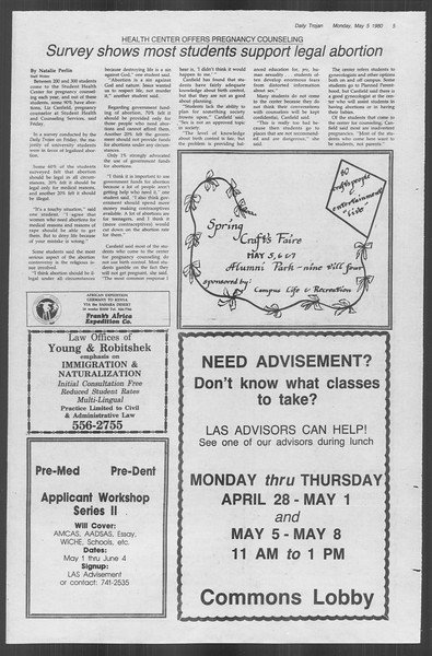 Daily Trojan, Vol. 88, No. 58, May 05, 1980