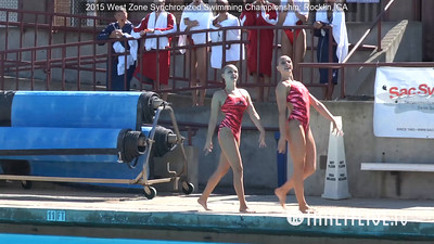 E01 - Senior Duet Tech Routine Competition - 2015 Western Zone Synchronized Swimming Championships - Livesynchro Powered by: Takeitlive.tv