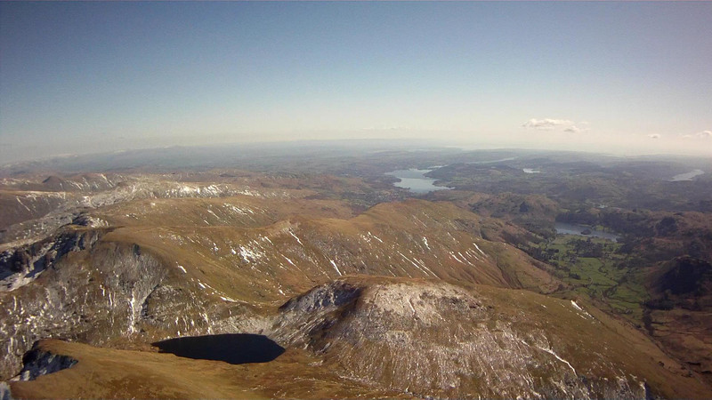 About to cut the corner and pass directly over Grisedale Tarn to Fairfield.