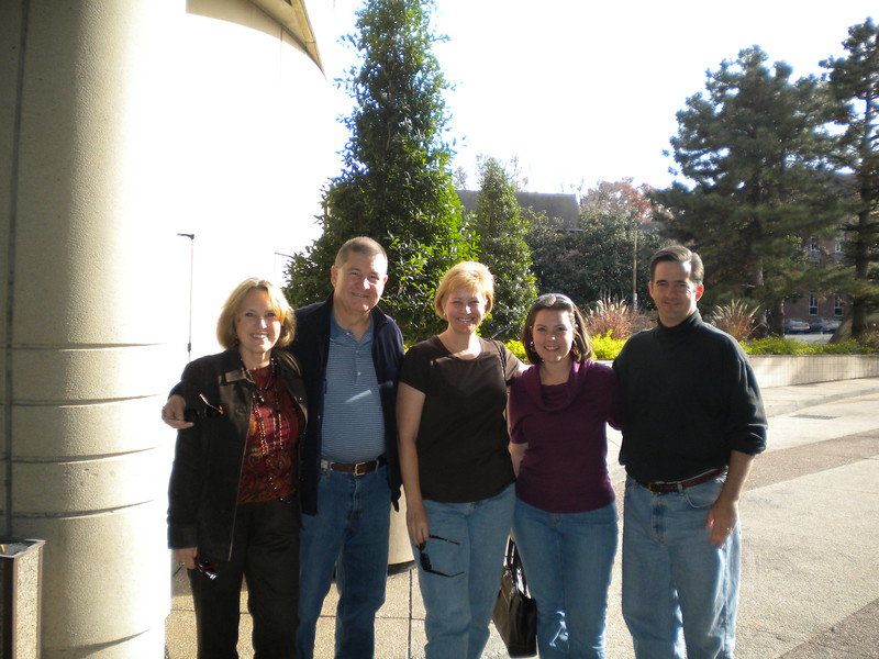 President Patti with her husband David, Nicole Emard, President Elect John Akard with wife Paige