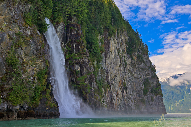 Cascade Point waterfall, Knight Inlet,,British Columbia, Canada